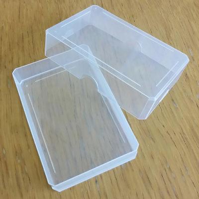 Opbergdoosje: Transparant handig soft plastic beschermdoosje voor onderweg