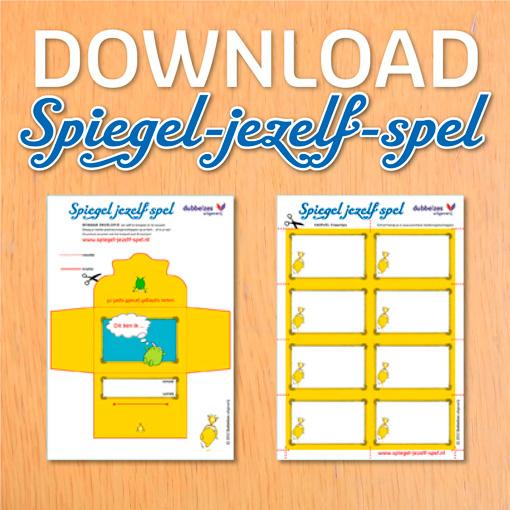 Spiegel jezelf spel Envelopje met losse kaartjes KLEURplaat 24 eigenschappen